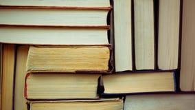 Stapel Gebruikte Oude Boeken Royalty-vrije Stock Foto