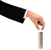 Stapel Geld Stockfoto