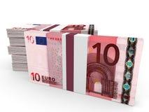 Stapel Geld 10 Euro Lizenzfreie Stockfotografie