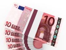 Stapel Geld 10 Euro Stockbilder