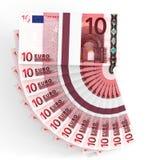 Stapel Geld 10 Euro Lizenzfreie Stockbilder
