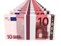 Stapel Geld 10 Euro Stockfotografie