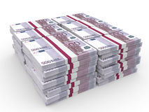 Stapel Geld Fünfhundert Euros Lizenzfreie Stockfotografie