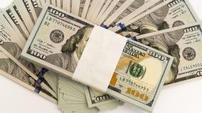 Stapel Geld in US-Dollars wechseln Banknoten ein Lizenzfreies Stockbild