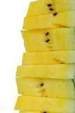 Stapel gele watermeloenplakken Stock Afbeeldingen