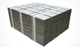 Stapel Generische Lege Bankbiljetten Royalty-vrije Stock Afbeelding