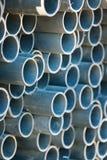 Stapel gerundete Stahlrohre Lizenzfreies Stockfoto