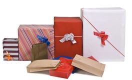 Stapel Geschenke Stockfotos