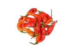 Stapel getrockneter Paprika-Pfeffer Lizenzfreies Stockbild