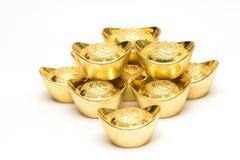 Stapel Goldbarren Stockbild