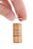 Stapel goldene Münzen Lizenzfreie Stockbilder