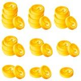Stapel Goldmünzen Stockbild