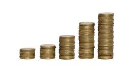 Stapel Goldmünzen Lizenzfreies Stockfoto
