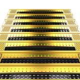 Stapel gouden servers op witte achtergrond royalty-vrije illustratie