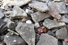 Stapel grijze concrete stukken royalty-vrije stock foto's