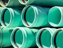 Stapel große Abwasserleitungen Lizenzfreie Stockfotos