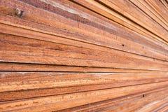 Stapel hölzerner Plankenhintergrund Stockbild