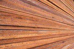Stapel hölzerner Plankenhintergrund Stockfoto