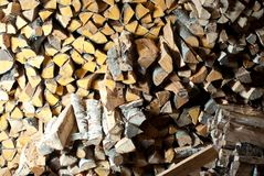 Stapel Holz. Stockfotos