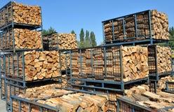 Stapel Holz Stockfoto
