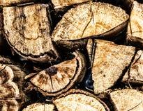 Stapel Holz Lizenzfreie Stockfotos