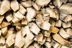 Stapel Holz für das Anzünden Stockbilder