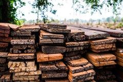 Stapel houten bars Stock Fotografie
