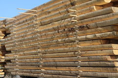 Stapel houten bars Stock Foto's