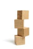 Stapel Houten Blokken Stock Afbeelding
