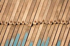 Stapel houten ligstoelen Royalty-vrije Stock Fotografie