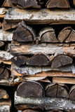 Stapel houten logboeken Royalty-vrije Stock Afbeeldingen