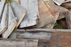 Stapel houten planken royalty-vrije stock afbeeldingen
