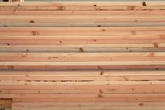 Stapel Houten Planken Royalty-vrije Stock Foto's