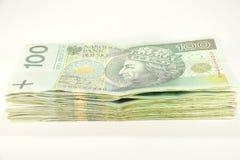 Stapel Hundertzloty lizenzfreie stockfotografie