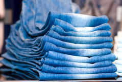 Stapel jeans Stock Foto
