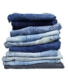 Stapel jeans Stock Foto's