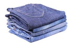 Stapel Jeans Stockfotografie