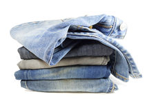 Stapel Jeans Lizenzfreie Stockfotos