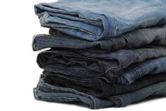 Stapel Jeans Stockfotografie