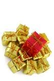 Stapel Kerstmisgiften Royalty-vrije Stock Foto