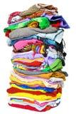 Stapel kleren stock afbeeldingen
