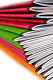 Stapel kleurennotitieboekjes Royalty-vrije Stock Foto's