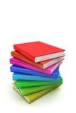 Stapel kleurrijke boeken Stock Afbeeldingen