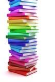 Stapel kleurrijke boeken Stock Foto's