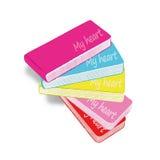 Stapel kleurrijke boeken die op wit worden geïsoleerd, Royalty-vrije Stock Fotografie