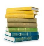 Stapel kleurrijke uitstekende boeken Stock Foto