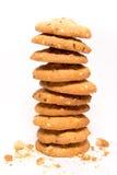 Stapel koekjes met sesam Stock Foto's