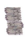 Stapel kranten Stock Afbeelding