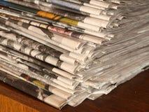 Stapel kranten Royalty-vrije Stock Fotografie