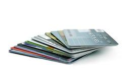 Stapel Kreditkarten Stockfoto